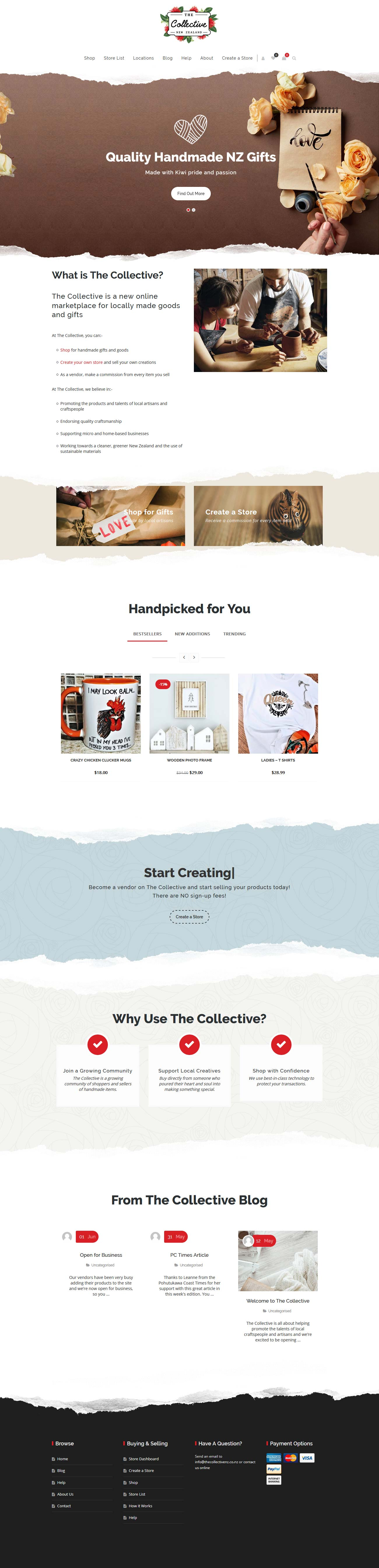 Website design for The Collective