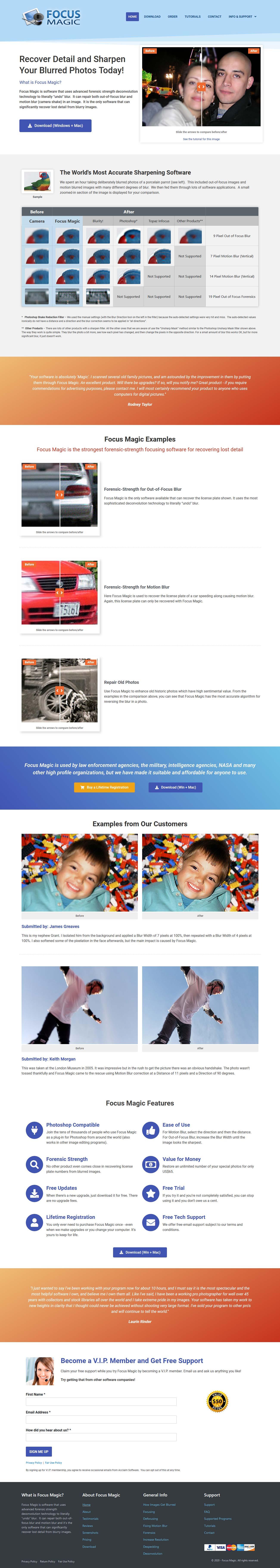 Website design for Focus Magic